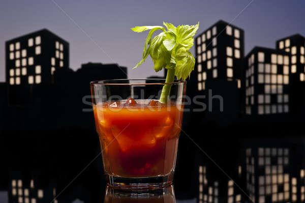 Metrópole sangrento coquetel verde beber Foto stock © 3523studio