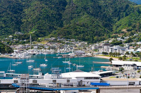 Klein idyllisch jacht haven strand Stockfoto © 3523studio