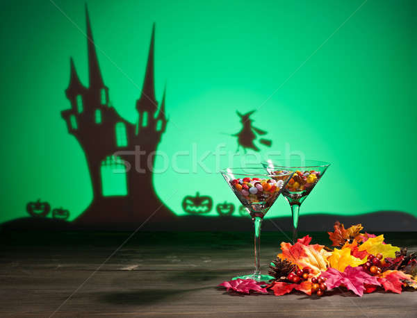Halloween haunted house a witch and sweets Stock photo © 3523studio