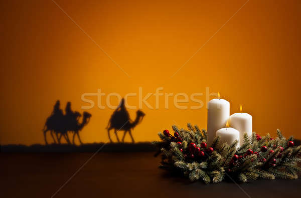 Three wise men and candles Stock photo © 3523studio