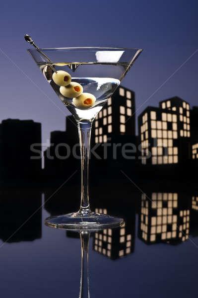 Világváros vodka martini kenguru koktél vodka variáció Stock fotó © 3523studio