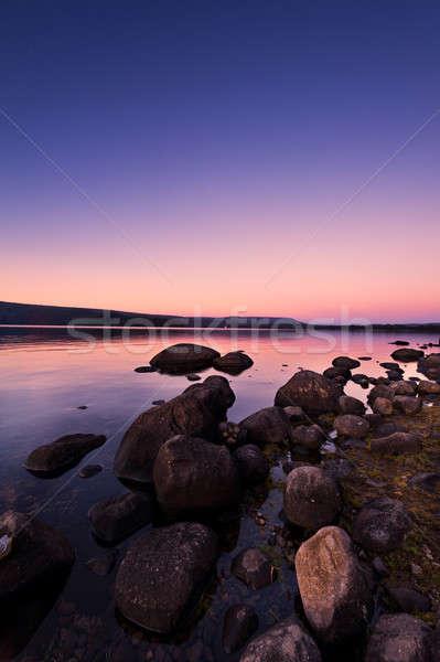 закат Восход озеро красивой Сток-фото © 3523studio