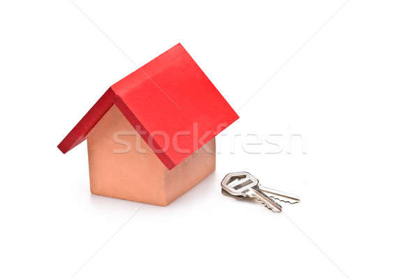 red roofed house with house keys Stock photo © 3523studio