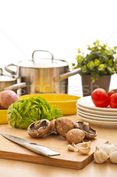 Kitchen still life, preparation for cooking Stock photo © 3523studio
