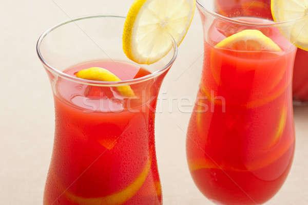 Chilled Orange Lemon Sangria Stock photo © 3523studio