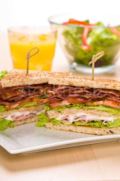 2 サンドイッチ プレート ジュース サラダボウル 食品 ストックフォト © 3523studio