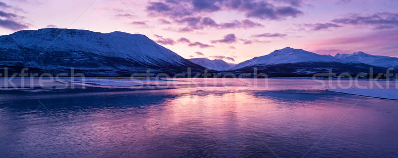 Twilight above a fjord in Norway with beautifully colors Stock photo © 3523studio