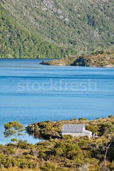 Jezioro dove kołyska górskich tasmania Australia Zdjęcia stock © 3523studio