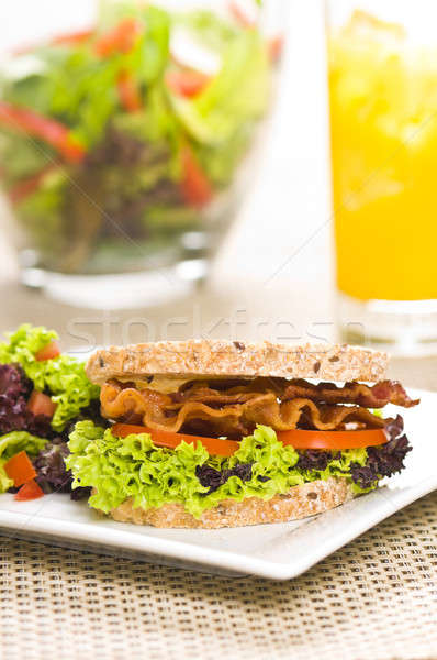 Close-up shoot of a Sandwich with rich Salad Stock photo © 3523studio