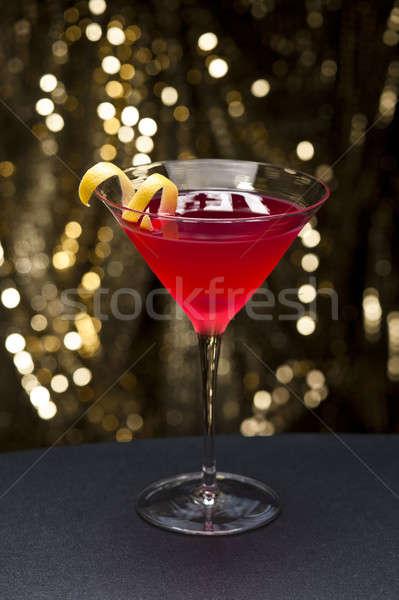 Cosmopolita cocktail limone guarnire oro glitter Foto d'archivio © 3523studio