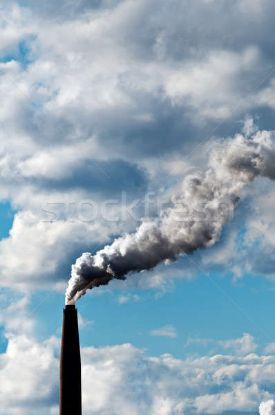 Chimney exhaust waste amount of CO2 into the atmosphere Stock photo © 3523studio