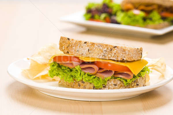 Sandwich riche salade simple alimentaire Photo stock © 3523studio