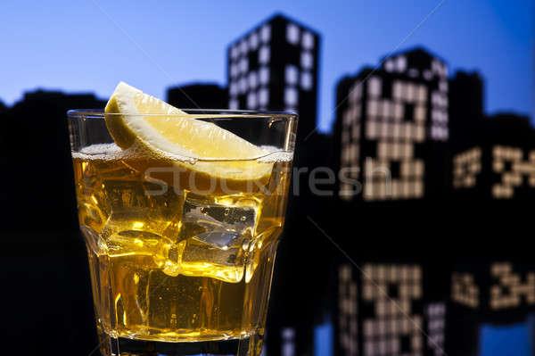 Metropolis Whisky sour cocktail Stock photo © 3523studio