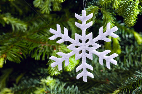 Snow flake shape Christmas ornament Stock photo © 3523studio