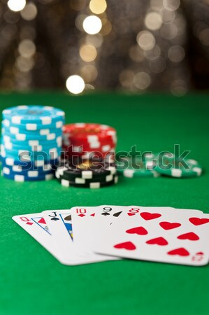Stock photo: Straight flush in a poker game