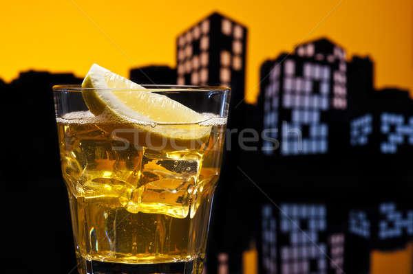 Metropolis whisky zuur cocktail partij Stockfoto © 3523studio