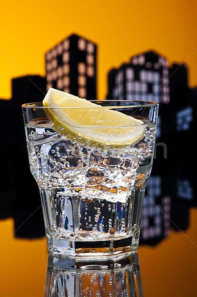 Metropolis gin cocktail partij glas Stockfoto © 3523studio