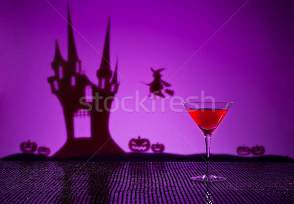 Kosmopolitisch cocktail halloween huis heks Stockfoto © 3523studio