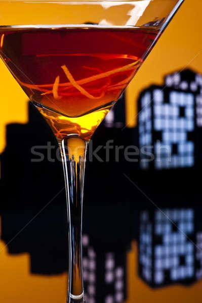 ストックフォト: 大都市 · マンハッタン · カクテル · ウイスキー · 甘い