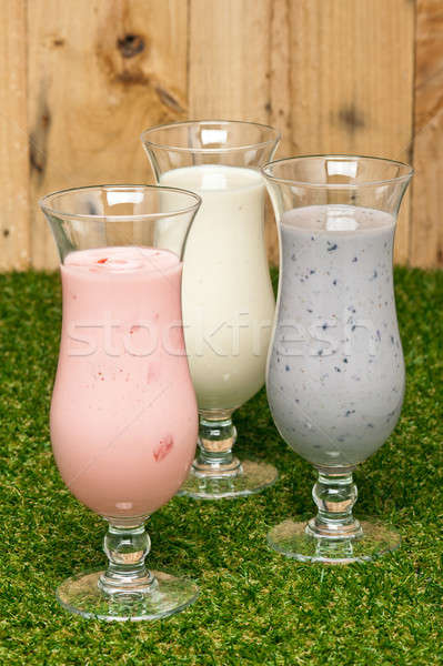 Three kind of a milk shake Stock photo © 3523studio