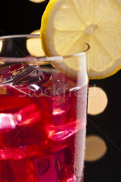 коктейль дискотеку красный стекла Бар пить Сток-фото © 3523studio