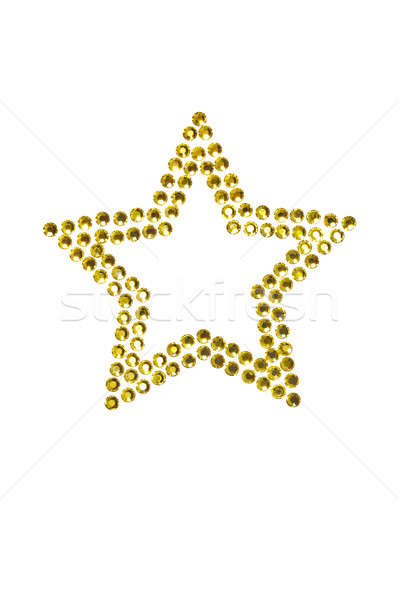 Star made of rhinestones Stock photo © 3523studio