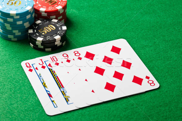 Straight flush in a poker game Stock photo © 3523studio