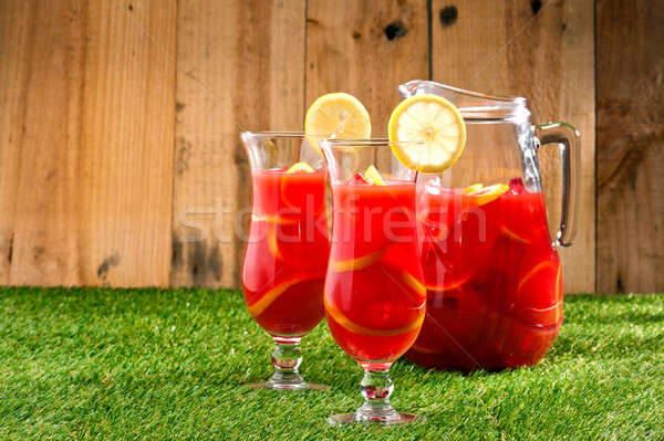 Chilled Orange Lemon Sangria Stock photo © 3523studio