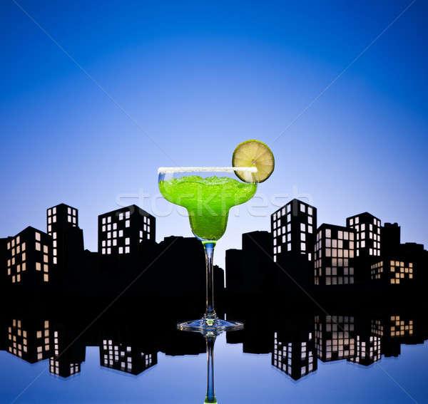 Metropolis green Margarita cocktail Stock photo © 3523studio