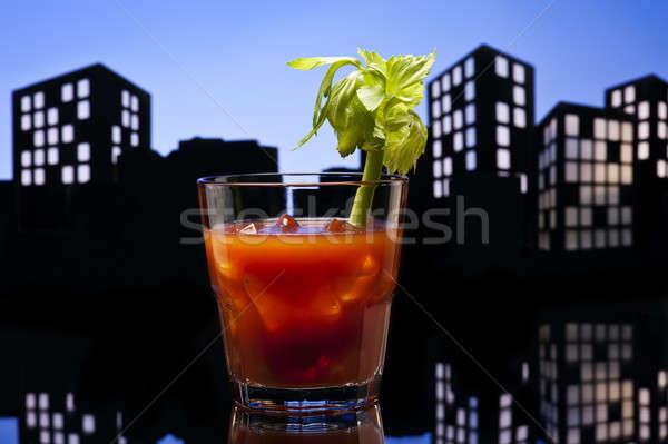 Metrópole sangrento coquetel vidro beber Foto stock © 3523studio