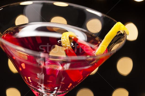 космополитический дискотеку воды стекла Бар Сток-фото © 3523studio
