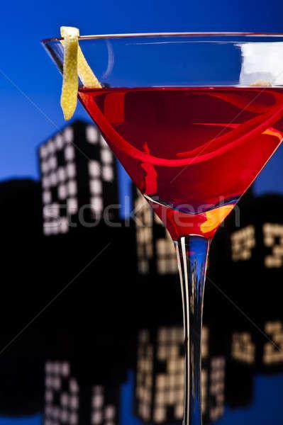Metropolis Cosmopolitan Cocktail Stock photo © 3523studio