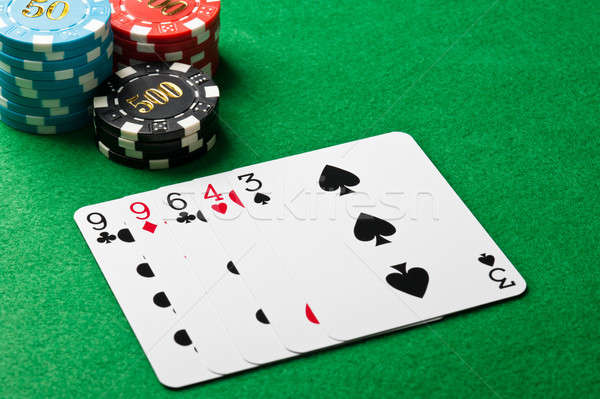 One pair in a poker game Stock photo © 3523studio