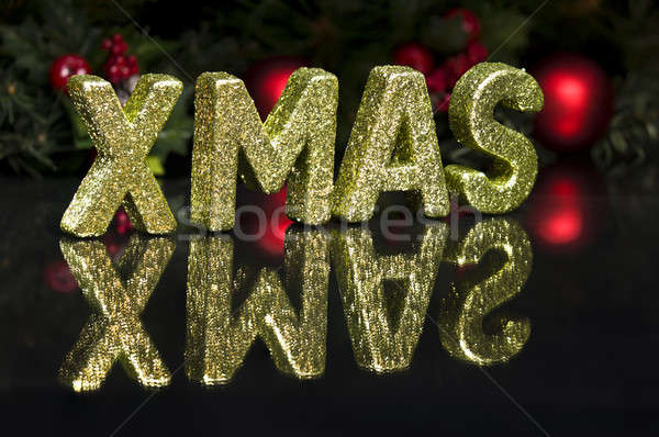 In capital letter written Xmas, glitter effect Stock photo © 3523studio