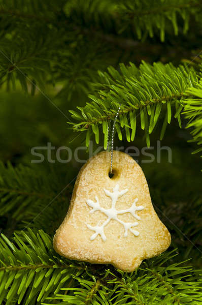 Bel vorm kort brood cookie kerstboom Stockfoto © 3523studio