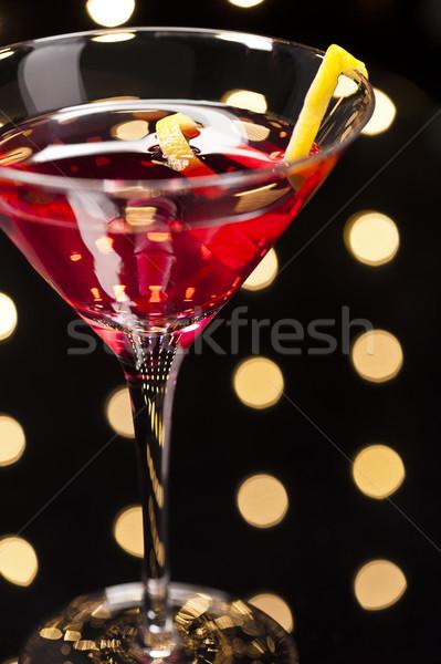 космополитический коктейль дискотеку воды стекла Сток-фото © 3523studio