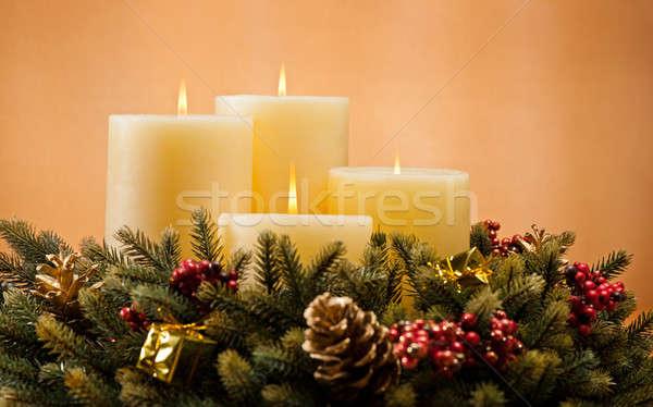 Advent wreath Stock photo © 3523studio
