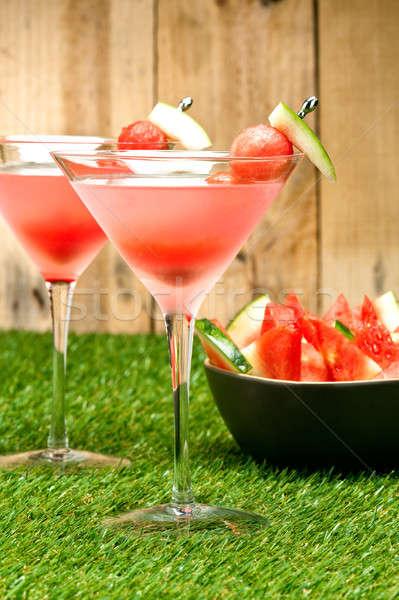 Stock fotó: Görögdinnye · martini · gyümölcs · dekoráció · buli · jég