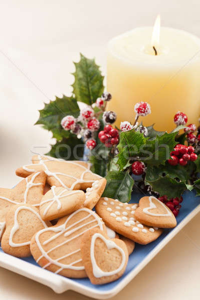 Christmas cookies, short bread in festive setting Stock photo © 3523studio