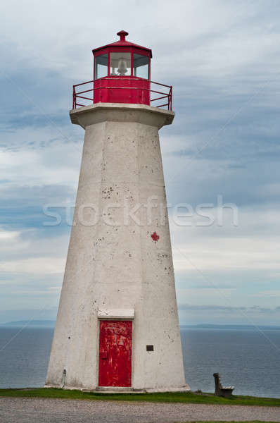 Cape george Lighthouse, on a cloudy day Stock photo © 3523studio