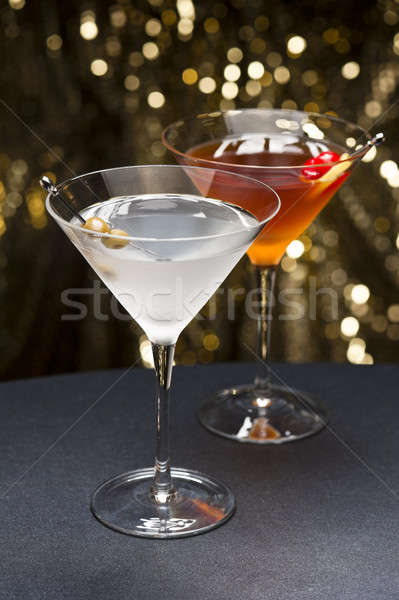 Manhattan and Martini cocktail nice garnished  Stock photo © 3523studio