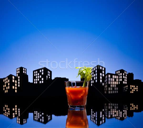 ストックフォト: 大都市 · 血まみれの · カクテル · ガラス · ドリンク