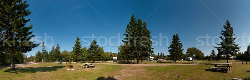 Campground of Cape Breton Highlands National Park Stock photo © 3523studio
