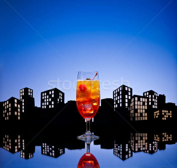 Métropole tequila sunrise cocktail verre Photo stock © 3523studio
