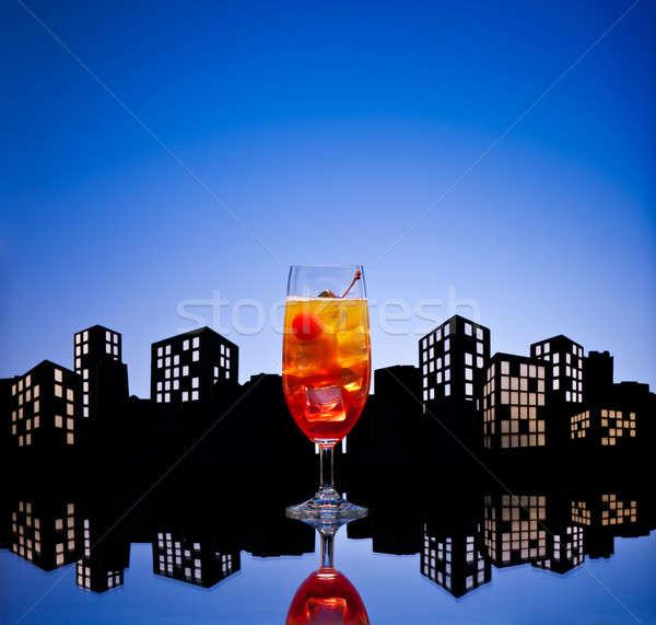 Metropolia tequila Świt koktajl szkła Zdjęcia stock © 3523studio