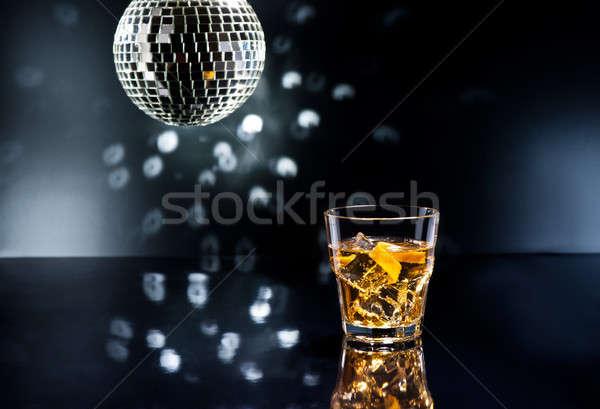 Whisky kwaśny koktajl disco światła owoców Zdjęcia stock © 3523studio