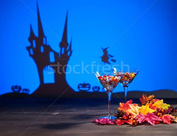 Halloween nawiedzony domu witch słodycze candy Zdjęcia stock © 3523studio