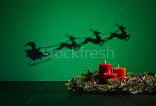 Santas sledge Stock photo © 3523studio