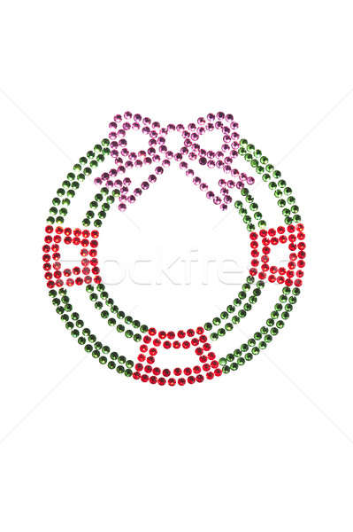 Red green wreath made of rhinestones Stock photo © 3523studio