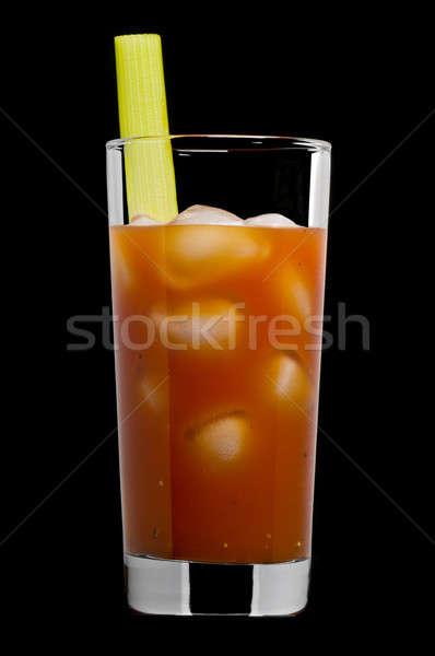 кровавый черный коктейль фрукты стекла льда Сток-фото © 3523studio